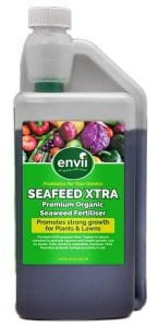 front view of Envii Seafeed Xtra bottle our liquid seaweed fertiliser