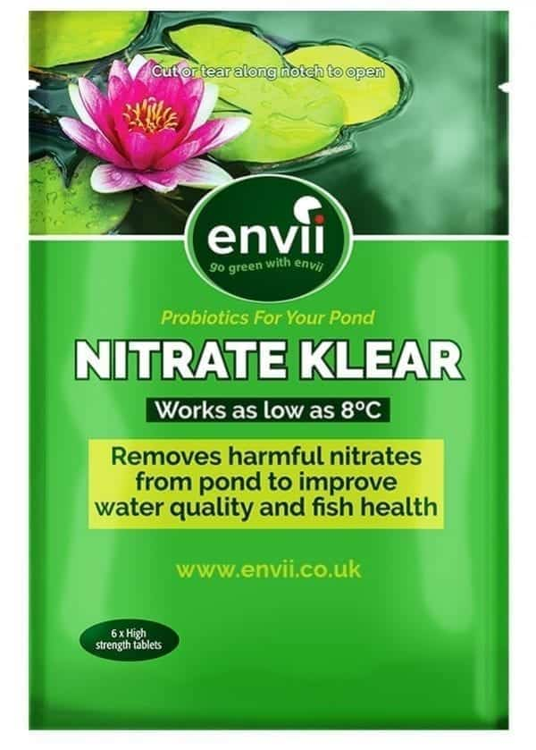 front view of Envii Nitrate Klear packet our nitrate remover for ponds