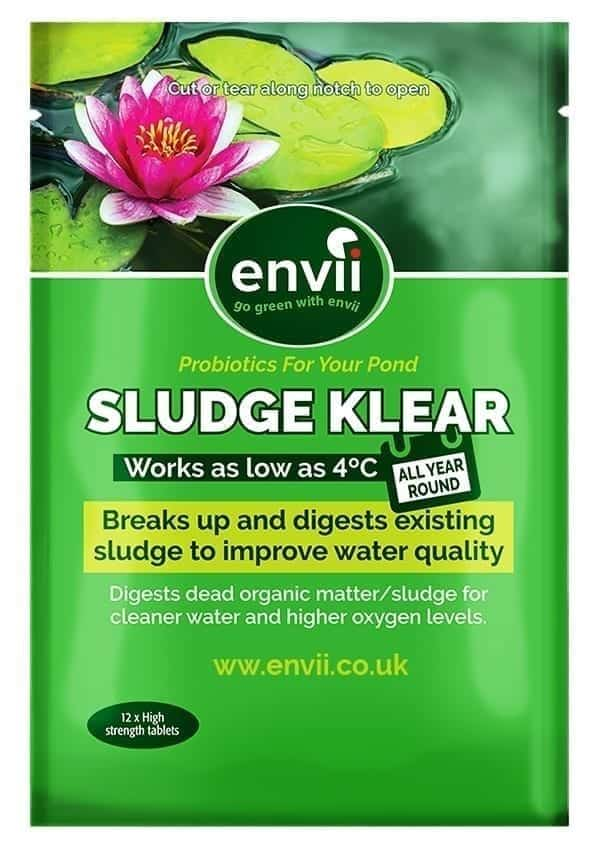 front view of Envii Sludge Klear packet our pond sludge remover