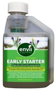 front view of Envii Early Starter bottle our winter protection for plants