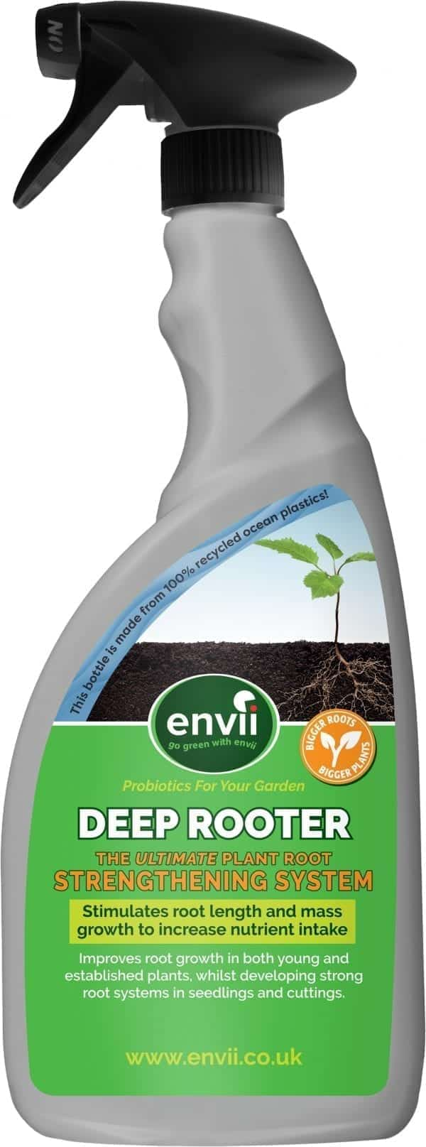 front view of Envii Deep Rooter our plant root stimulator