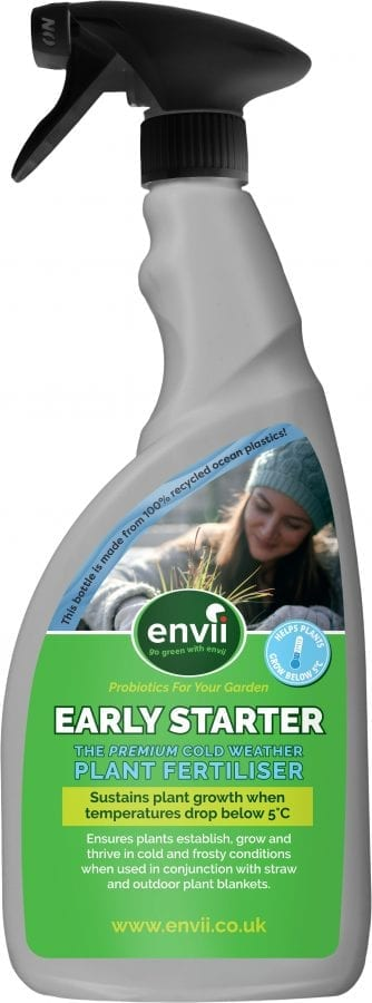 Front view of Envii Early Starter our winter protection for plants