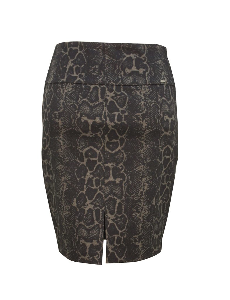 snake patterned skirt with slit