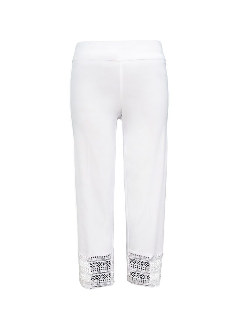Womens Up Straight Legged Crop Trousers in White