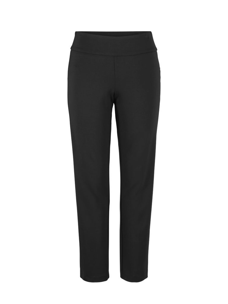 Front image of Up! Pants Ponte Slim Leg Trouser in Black