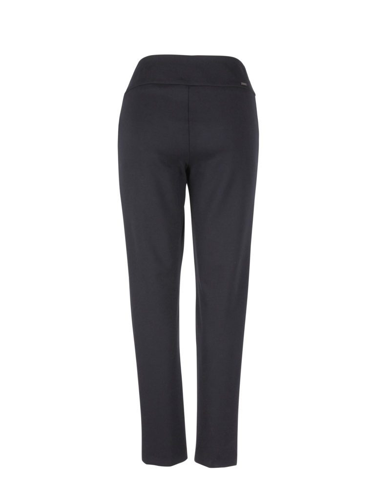 Back image of Up! Pants Ponte Slim Leg Trouser in Black