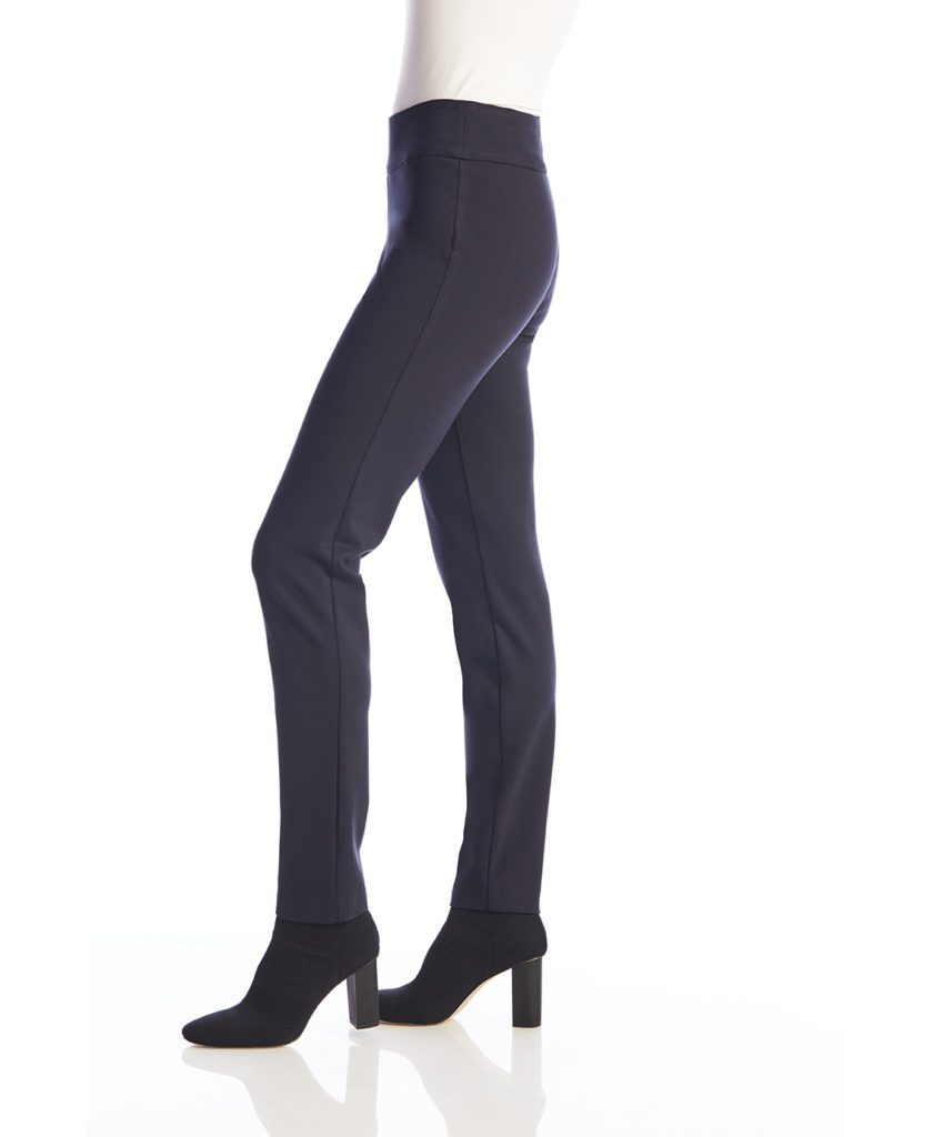 Up! Pants Ponte Slim Leg Trouser in Navy