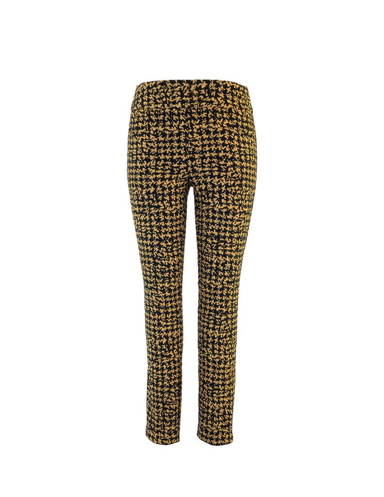 Up! Pants Kors Slim Leg Trouser in Black and Yellow